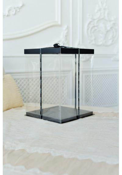 Подарочная коробка для мишки из роз 40 см