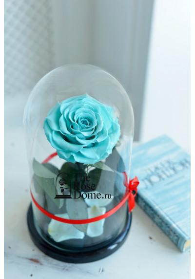 Роза в колбе, колба Premium бутон 11 см (бонита), тиффани